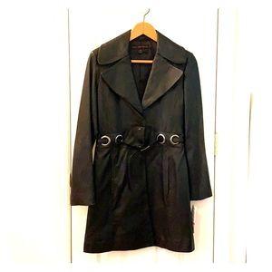 Via Spiga Black Leather Jacket